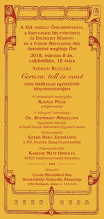 Széman Richárd: Ceruza, toll és ecset könyvbemutató és kiállítás