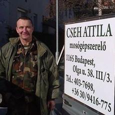 Cseh Attila mosógépszerelő