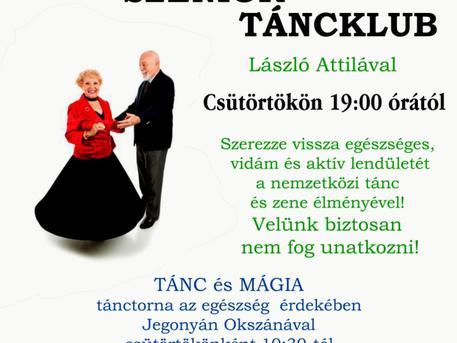 VIDÁM SZENIOR TORNA és TÁNCKLUB