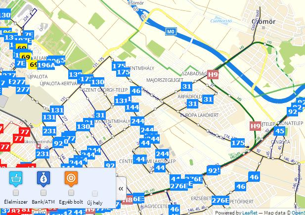 xvi kerület térkép XVI. kerület | Térképen követheted, merre járnak a buszok a
